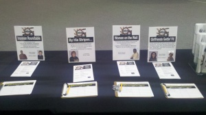 Small group signup table